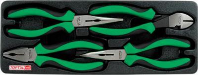 Набор губцевого инструмента Toptul GBAT0402 (4 предмета) - общий вид