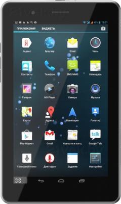 Планшет Wexler TAB 7iD (4GB,3G, черный) - фронтальный вид