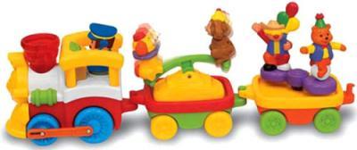 Развивающая игрушка Kiddieland Железная дорога и цирковой поезд (041962) - паровозик