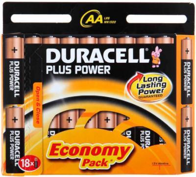 Батарейки АА Duracell Basic LR6 (18шт, алкалиновые) - общий вид