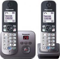 Беспроводной телефон Panasonic KX-TG6822 (серый металлик) -