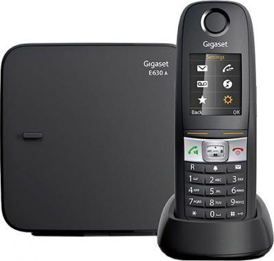 Беспроводной телефон Gigaset E630A (Black) - общий вид