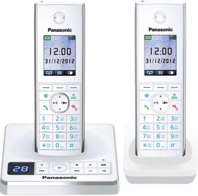 Беспроводной телефон Panasonic KX-TG8562 (White, KX-TG8562RUW) - общий вид