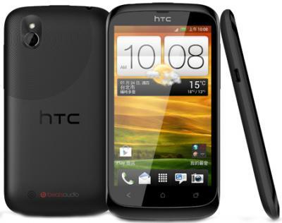 Смартфон HTC Desire U Dual (Black) - общий вид с задней и боковой панелями