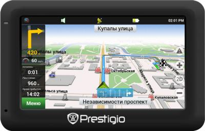 GPS навигатор Prestigio GeoVision 5050 (PGPS5050CIS04GBNV) - общий вид