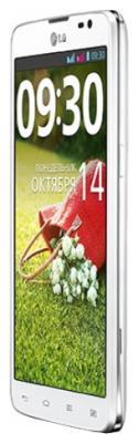 Смартфон LG D686 Optimus G Pro Lite Dual (White) - вид сбоку