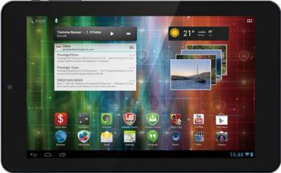 Планшет Prestigio MultiPad 4 QUANTUM 10.1 8GB (PMP5101C_QUAD) - фронтальный вид