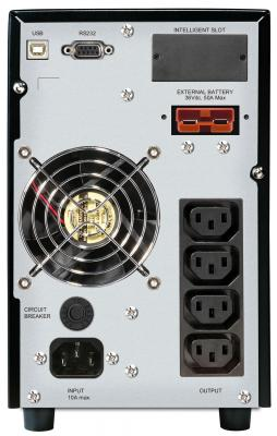 ИБП Mustek PowerMust 1008 Online LCD X - вид сзади