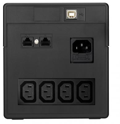 ИБП Mustek PowerMust 1060 LCD - вид сзади