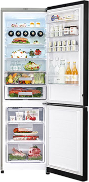 Холодильник с морозильником LG GA-B489TGMR - внутренний вид
