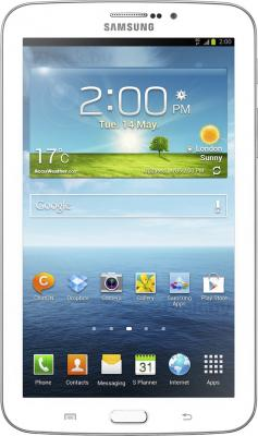 Планшет Samsung Galaxy Tab 3 7.0 8GB 3G (White SM-T211) - фронтальный вид