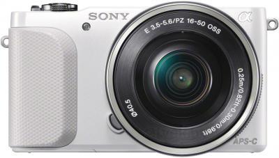 Беззеркальный фотоаппарат Sony NEX-3NLW - вид спереди