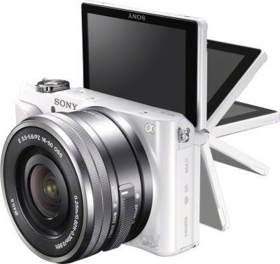 Беззеркальный фотоаппарат Sony NEX-3NLW - поворотный экран