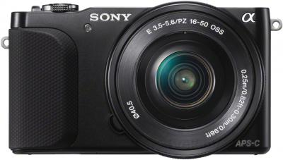 Беззеркальный фотоаппарат Sony NEX-3NYB - вид спереди