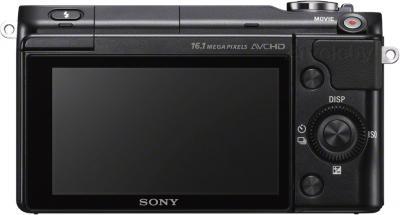 Беззеркальный фотоаппарат Sony NEX-3NYB - вид сзади