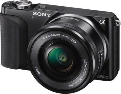 Беззеркальный фотоаппарат Sony NEX-3NYB - общий вид