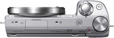 Беззеркальный фотоаппарат Sony NEX-5TYS - вид сверху