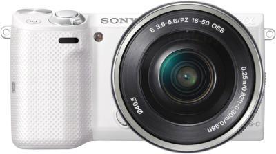 Беззеркальный фотоаппарат Sony Alpha NEX-5TYW - вид спереди