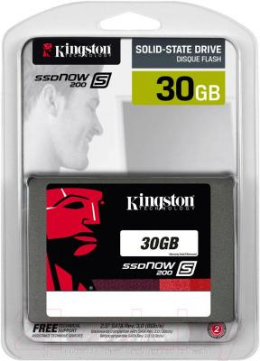 SSD диск Kingston SSDNow S200 30GB (SS200S3/30G)
