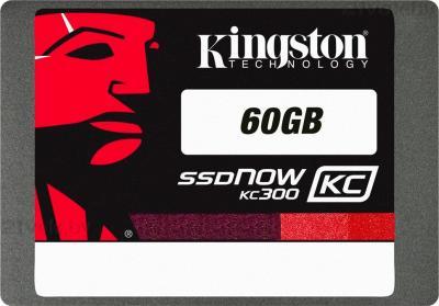 SSD диск Kingston SSDNow KC300 60GB (SKC300S37A/60G) - фронтальный вид