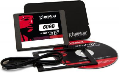 SSD диск Kingston SSDNow V300 60GB (SV300S3N7A/60G) - в комплекте