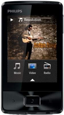 MP3-плеер Philips SA4MUS08KF/97 (8Gb, Black) - общий вид