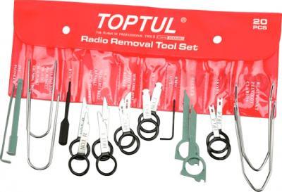 Набор съемников Toptul JGAA2001 (20 предметов) - общий вид