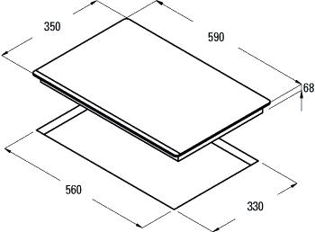 Индукционная варочная панель Cata I 2 PLUS - схема