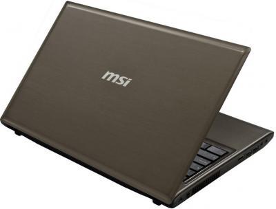 Ноутбук MSI CR61 0M-809XZA (Bronze) - вид сзади