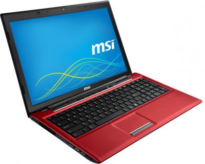 Ноутбук MSI CR61 0M-811XBY (Red) - общий вид