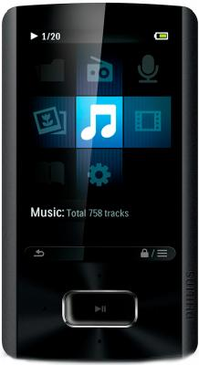 MP3-плеер Philips SA4ARA04KF/97 (4Gb, Black) - общий вид