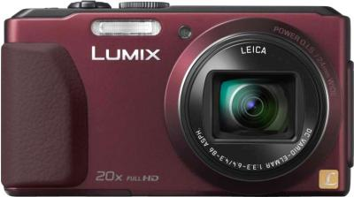 Компактный фотоаппарат Panasonic Lumix DMC-TZ40EE-R (Red) - вид спереди