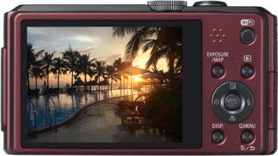 Компактный фотоаппарат Panasonic Lumix DMC-TZ40EE-R (Red) - вид сзади