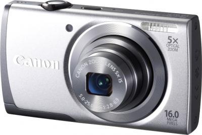 Компактный фотоаппарат Canon PowerShot A3500 (серебристый) - общий вид