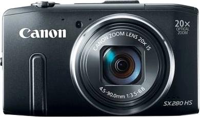 Компактный фотоаппарат Canon PowerShot SX280 HS - вид спереди