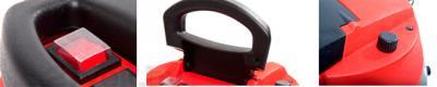 Пылесос Mie Ecologico Maxi - кнопка включения, ручка, регулятор мощности