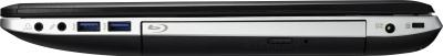 Ноутбук Asus N76VB-T4150D - вид сбоку