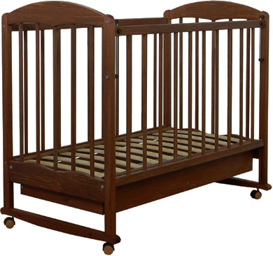 Детская кроватка СКВ 111117 (орех) - общий вид