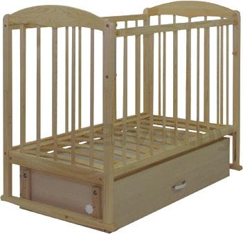 Детская кроватка СКВ 112005 (береза) - общий вид