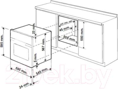 Электрический духовой шкаф Hotpoint FH 51 IX/HA S