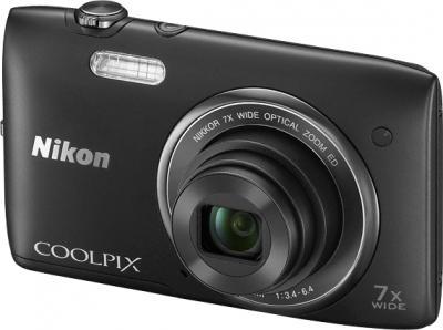 Компактный фотоаппарат Nikon Coolpix S3400 (Black) - общий вид