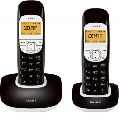 Беспроводной телефон TeXet TX-D6505A Duo (Black) - общий вид