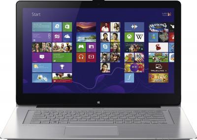 Ноутбук Sony Vaio SVF15N1M2RS - фронтальный вид