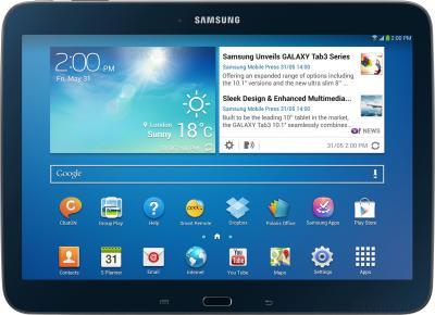 Планшет Samsung Galaxy Tab 3 10.1 16GB Black (GT-P5210) - фронтальный вид