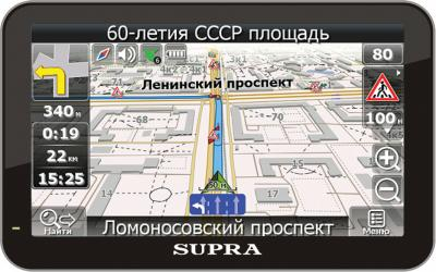 GPS навигатор Supra SNP-505BT - общий вид