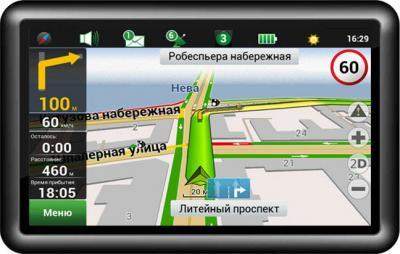 GPS навигатор Supra SNP-510GG - общий вид