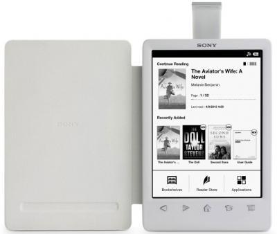 Обложка с подсветкой для электронной книги Sony PRSA-CL30 (белый) - с электронной книгой