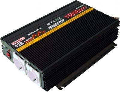 Автомобильный инвертор Союз PI-1500/12 - общий вид