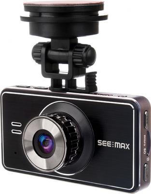 Автомобильный видеорегистратор SeeMax DVR RG520 (Black) - общий в вид с креплением