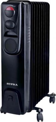 Масляный радиатор Supra ORS-11-2N (Black) - общий вид